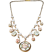 Victorian Mosaic Necklace - Beautiful Mosaics Circa 1860