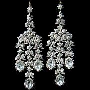 Antique Georgian Long Paste Earrings - Absolutely Beautiful Circa 1780