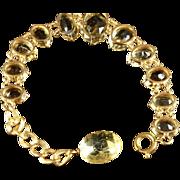 Antique Citrine Bracelet - 18ct Over 100ct Of Citrines