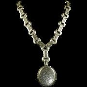 Antique Victorian Locket & Collar Fabulous Collar & Locket Dated 1881