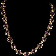Antique Victorian Amethyst Gold Collar/necklace Circa 1880