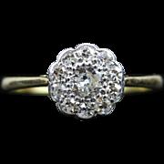 Antique Victorian Diamond Cluster Ring - 18ct Gold - 1ct of Diamonds