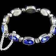 Antique Victorian Bristol Blue Paste Bracelet - 1900