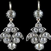 Antique Georgian Paste Earrings - Lovely 18ct Gold Earrings