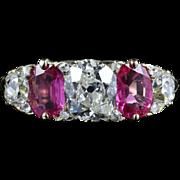 Antique Victorian Diamond & Ruby Ring - Circa 1900 1.50ct Diamond