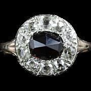 Antique Georgian Garnet & Diamond Ring - 18th Century