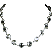 Antique Victorian Paste Silver Collar/necklace Circa 1860