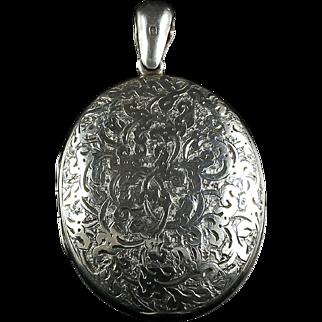 Antique Victorian Silver Locket - Dated 1880