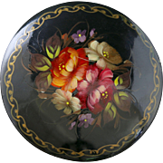 Russian Lacquer Brooch Hand Painted Paper Mache