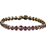 Antique Victorian Almandine Garnet Gold Bracelet