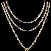 Antique Georgian Long 18ct Gold Chain Georgian Clasp Guard Chain