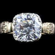 Antique Georgian Paste Ring 18ct Gold Circa 1800