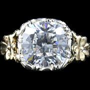 Antique Georgian Paste Ring 18ct Gold Silver Stunning Ring