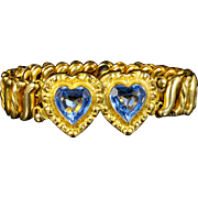 Antique Victorian Heart Bracelet Gold