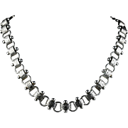 Antique Victorian Silver Collar Necklace Circa 1880