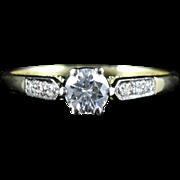 Antique Edwardian Diamond Ring 0.60ct Solitaire Diamond Engagement Ring