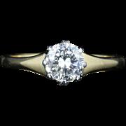 Antique Victorian Diamond Engagement Ring Circa 1900 18ct Gold 0.70ct