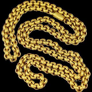 Antique Georgian Long Chain Original Chain and Clasp Circa 1780