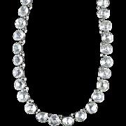 Antique Georgian Silver Paste Necklace Circa 1790