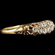 Antique Victorian Diamond Ring 18ct Gold