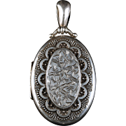 Antique Victorian Silver Locket 1880 Birmingham