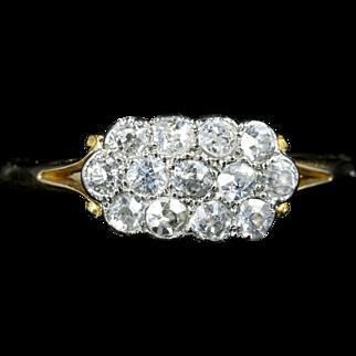 Antique Victorian Diamond ClusterRing 18ct Gold Circa 1900