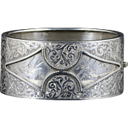 Antique Victorian Silver Bangle Circa 1880