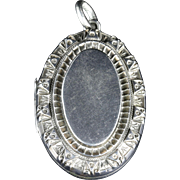 Antique Victorian Silver Vinaigrette Locket Dated 1884