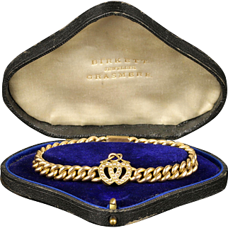 Antique Victorian Pearl Heart Bracelet Sweet Heart 15ct Gold Boxed