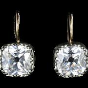Antique Georgian Paste Earrings Silver Gold