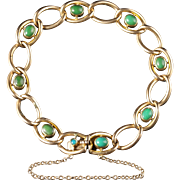Antique Victorian Turquoise Bracelet 15ct Solid Gold