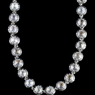 Antique Georgian Silver Gold Paste Necklace Circa 1770