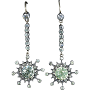 Antique Georgian Long Paste Earrings Circa 1800