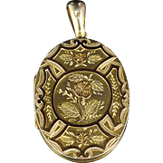 Antique Victorian Gold Silver Locket Circa 1880