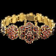 Antique Victorian Garnet Bracelet Circa 1880 Bohemian Garnets