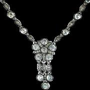 Antique Georgian Paste Silver Necklace Circa 1800