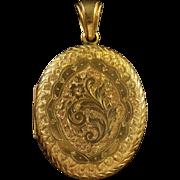 Antique Victorian Solid Gold Locket Circa 1870