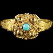 Antique Georgian Turquoise 18ct Gold Ring Circa 1730
