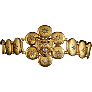 Antique Victorian Gold Diamond Lion Bracelet Circa 1860