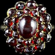 Antique Victorian Bohemian Garnet Ring Circa 1880