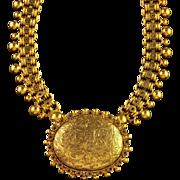 Antique Victorian 18ct Gold Silver Collar and Locket Circa 1880