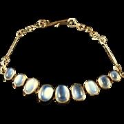 Antique Victorian Gold Moonstone Bracelet Circa 1900