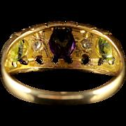 Antique 18ct Gold Victorian Suffragette Ring Circa 1900