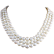 Edwardian Platinum Pearl Necklace Diamond Citrine Amethyst Platinum Clasp