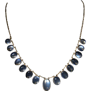 Antique Victorian Moonstone Gold Necklace - Circa 1900