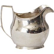 Antique English Sterling Silver Jug Creamer