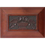 Antique Carved Architectural Panel of Naive or Folk Urn of Flowers - Red Tag Sale Item