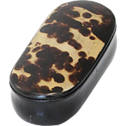 Papier Mache Trinket Snuff Pill Box