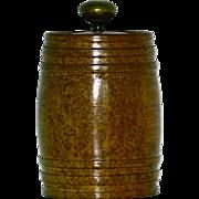 Burl Burled Humidor,barrel, cannister