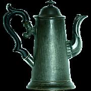 Antique English Tole Toleware  Teapot Coffee Pot